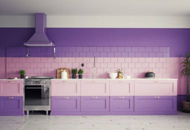 cuisine en violet