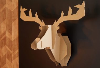tête de cerf en carton