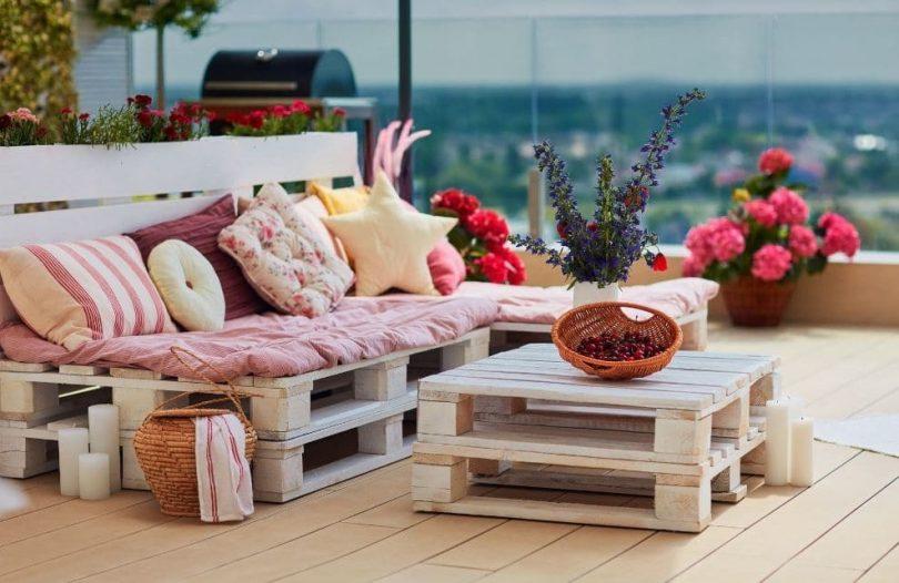 salon de jardin en palette maison