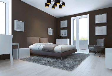 chambre couleur taupe